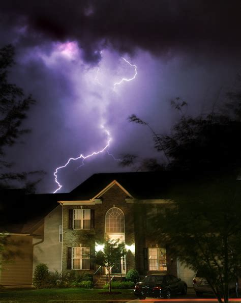 lightning hits house lightning safety countryside fire protection district