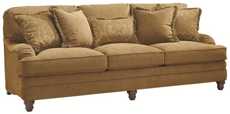 bernhardt sofas bernhardt tarleton traditional styled stationary sofa