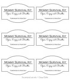 Survival Kit Template by Survival Kit In A Jar Clutter