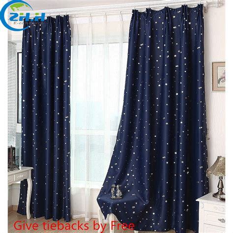 star blackout curtains single panel modern hooking blackout children curtains
