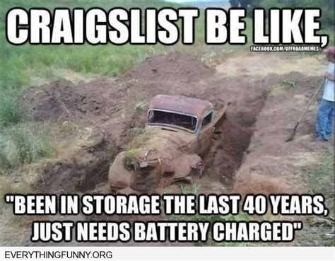 Mudding Memes - funny truck buried in mud craigslist be like in storage