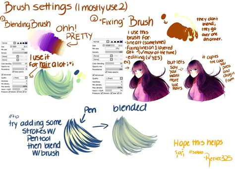 paint tool sai custom brush tutorial brush settings paint tool sai by shintaree on deviantart