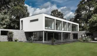 contemporary house with moat on the south coast of england