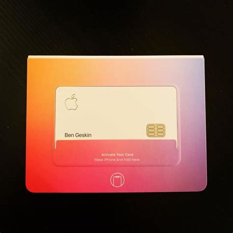 show beta apple card  nfc enabled packaging