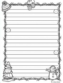 winter writing paper winter writing paper by minds and hearts tpt