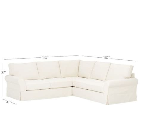pottery barn pb comfort sectional pb comfort roll arm slipcovered 3 piece l shaped sectional