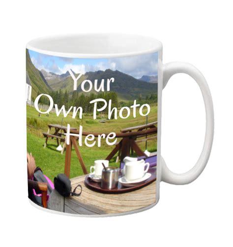 design your own mug wrap around your personalised photo scene mug label stream