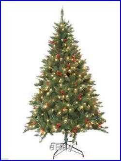 christmas tree holiday pre lit pine 7 foot artificial