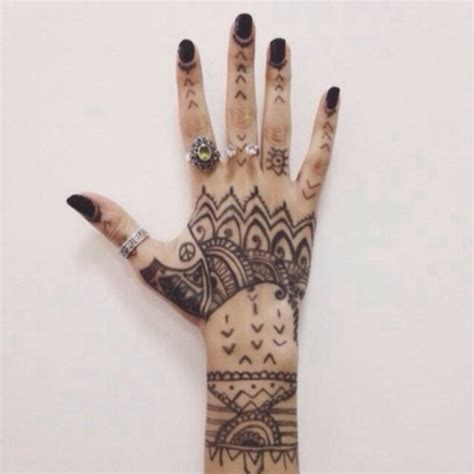 hipster henna tattoo ideas jewels ring wheretoget