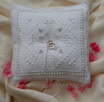 Ring Pillow Uk by Col S Creations Traditional Hardanger Designs Wedding