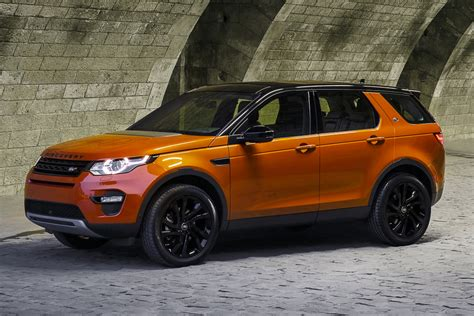 orange land rover discovery land rover discovery sport the future influx
