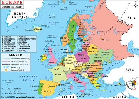 political map of asia with capitals europe map europe map political map of europe with