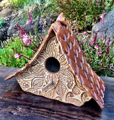 Ceramic Birdhouses Handmade - 124 best images about clay birdhouses on