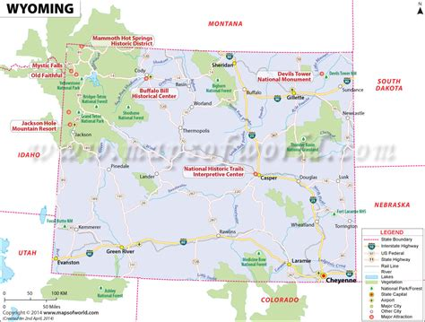 wyoming map buy reference map of wyoming