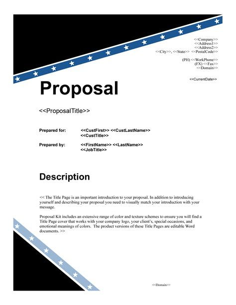 project proposal cover page  business proposal cover