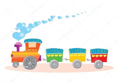 treno clipart illustrazione trenino con cuori vettoriali stock