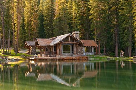 Mountain Lake Cabins by Rustic Lake Cabin Big Sky Montana Rustic Mountain