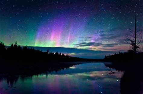 Northern Lights Landscaping Photography Photo Sky Landscape Northern Lights Nature Shore
