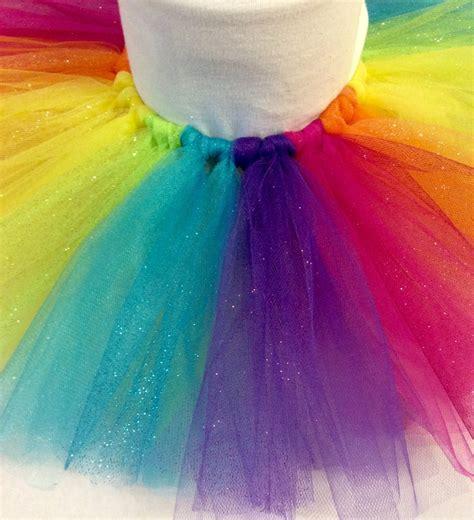colorful tutu rainbow glitter tutu rainbow tutu colorful tutu birthday
