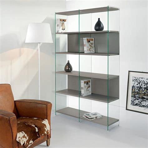 libreria moderna libreria moderna byblos5 separatoria in legno e vetro 120