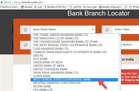 bank finder how to find ifsc code of west bengal state cooperative