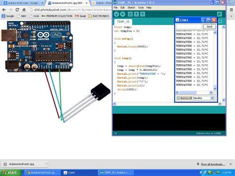 code arduino lm35 arduino temperature sensor lm35 espa 241 ol