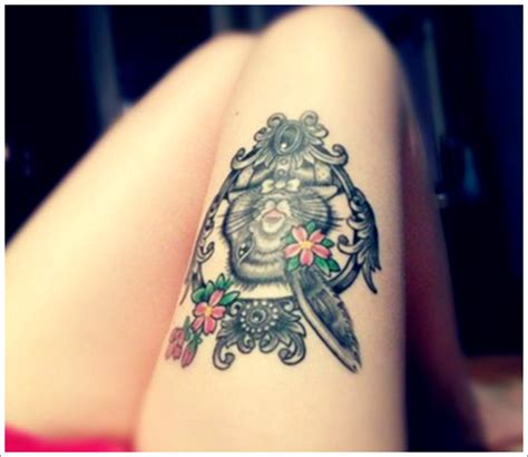 best tattoo design ideas cute thigh tattoos for women