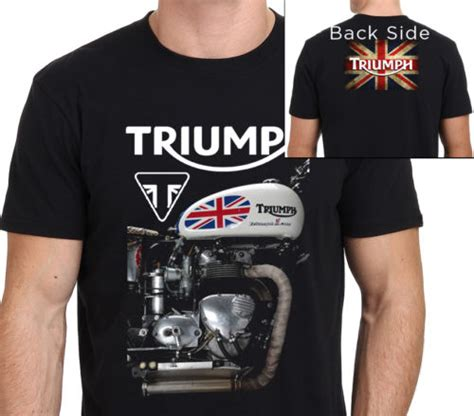 Triumph Motorrad Merchandising by Triumph Motorcycle T Shirt Men Two Sides Triumph Vintage