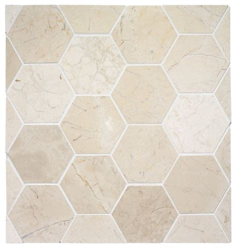 hexagon tile eclectic tile other metro by