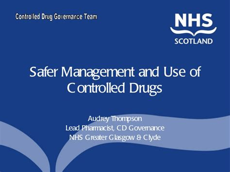 safer management and use of controlled drugs