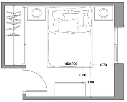 cuanto mide un sofa cama de dos plazas tips para dise 209 ar un dormitorio comodo y armonico