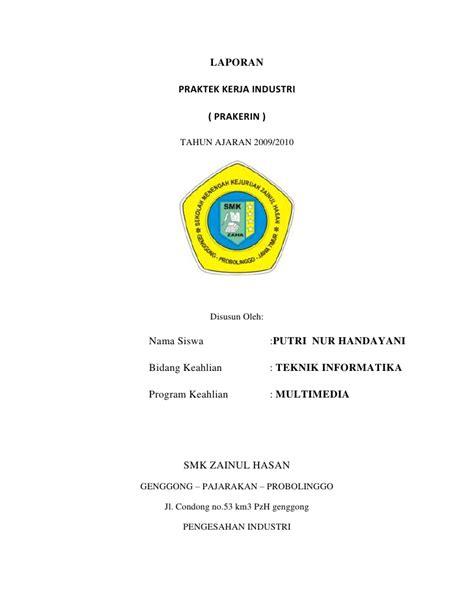 contoh cover laporan pkl contoh laporan pkl