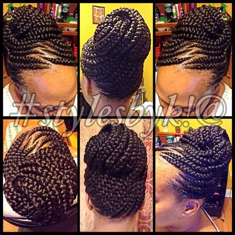ghanaian lines hairstyles ghana braid updo on natural hair stylesbyk