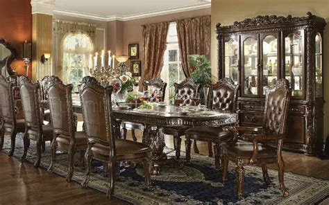 11 dining room set formal traditional vendome cherry 11 pc dining room set