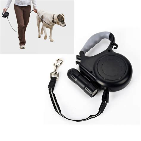 Automatic Retractable Leash With Led Flashlight Tali Anjing high quality dogs leash automatic retractable leash for dogs universal remote with