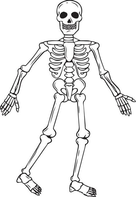 blank halloween coloring pages skeleton halloween coloring page 2 coloring pages