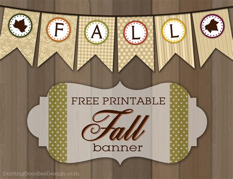 Free Printable Autumn Banner | fall archives darling doodles