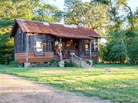Lake Country Cabins by House Crush Tour This Salvage Chic Tiny Lake House In