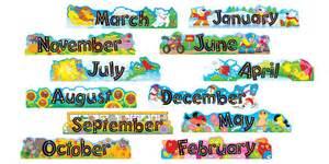 Star Classroom Decorations Alpha Beads 12 Monthly Headers Mini Bulletin Board Set T