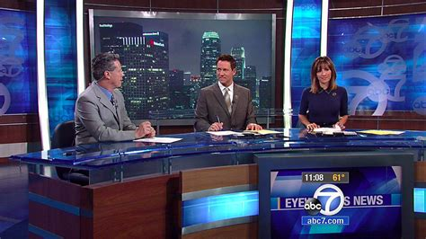 abc 7 news los angeles world news los angeles abc moves to temporary set newscaststudio