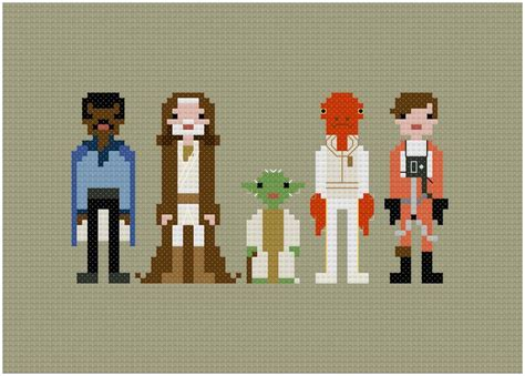 pixel wars pixel people star wars allies by weelittlestitch craftsy