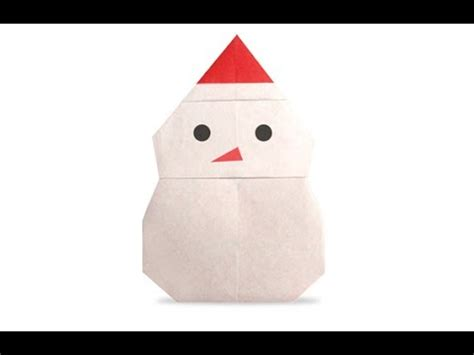 How To Make A Snowman Out Of Paper - origami snowman hd
