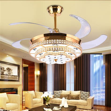 Bedroom Ceiling Fans With Lights Aliexpress Buy Modern Led Luxury 52 Inch Invisible Retractable Ceiling Fans With