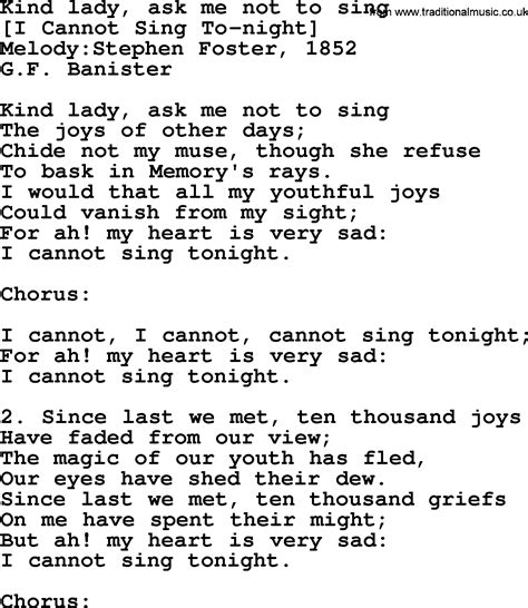 song to sing american song lyrics for ask me not to