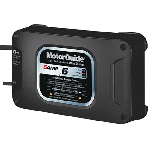 motorguide battery charger motorguide on board single bank battery charger 5a west