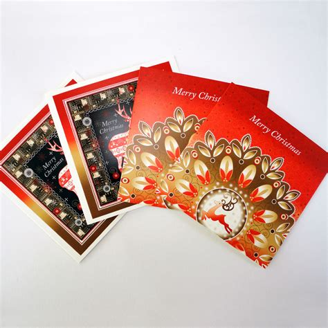 christmas reindeer display festive greeting cards