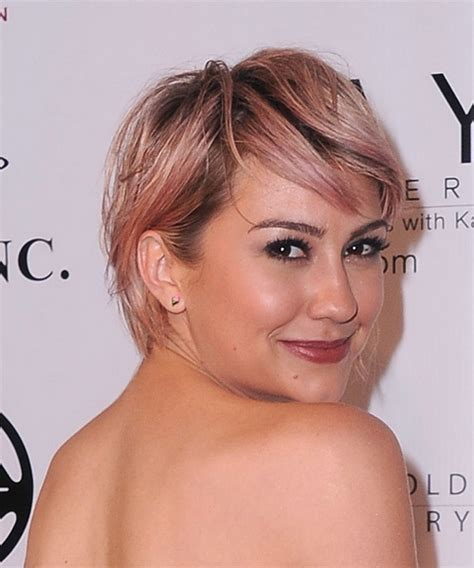 chelsea kane back and front view haircut chelsea kane short straight casual hairstyle with side