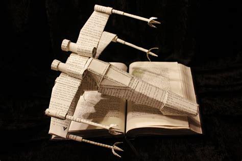 wing books wars x wing book sculpture by wetcanvas on deviantart