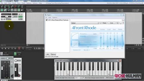 keyboard instrument tutorial reaper tutorial play vsti instrument live from keyboard