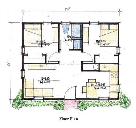 small house plans under 500 sq ft two bedroom 500 sq ft house plans google search cabin life pinterest tiny